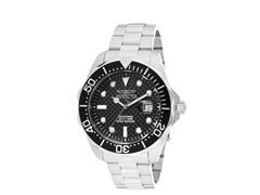 Men's Black Carbon Fiber Stainless Watch