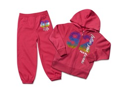 Girls Hot Pink Fleece Set