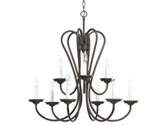 9-Light Chandelier, Antique Bronze