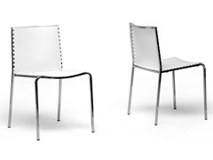 Plastic Dining Chair White Set of 2