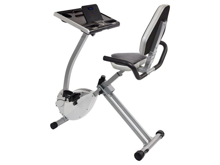 Stamina 15-0321 2-in-1 Recumbent Exercise Bike Workstation and Standing Desk