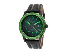 Men's Green/Black Leather Watch