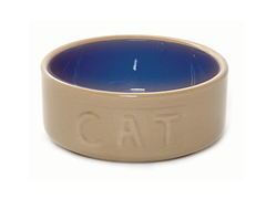 Cane & Blue Cat Bowl 5""