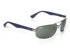 Rect Aviator Sunglasses - Gunmetal/Blue