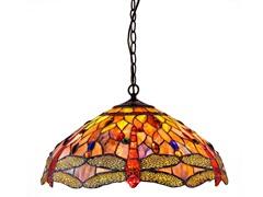 Tiffany Style Dragonfly Pendant Light