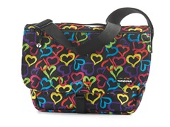 Yak Pak Messenge Bag - Multi Heart