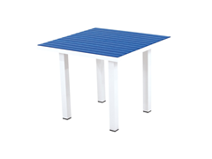 Euro Dining Table, White/Pacific Blue
