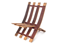 Folding Wine Stave Chair