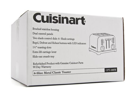 Metal Classic 4 Slice Toaster