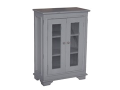 Sevilla Small Cabinet w/Glass - Ant Grey