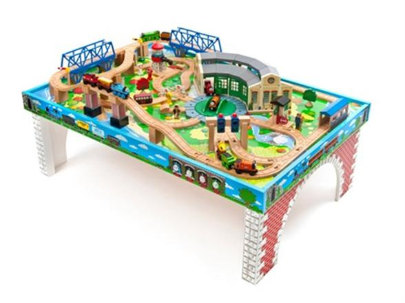 Thomas \u0026 Friends Wooden Railway \u2013 Tidmouth Sheds Deluxe Set with Island of Sodor Play Table  sc 1 st  Woot & Thomas \u0026 Friends Wooden Railway \u2013 Tidmouth Sheds Deluxe Set with ...