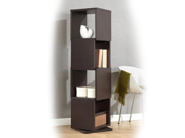 Ogden 4-Level Rotating Bookshelf