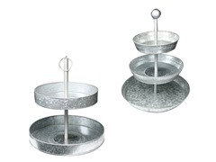 Galvanized 2 Tier and 3 Tier Cakestands