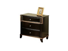 Soho 3 Drawer Nightstand