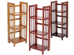 Folding 3 Tier Small Bookcase - 3 Colors
