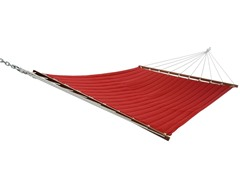 Double Quilted Hammock, Chili Solid