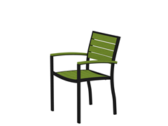 Euro Dining Chair, Black/Lime