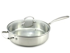 "Kevin Dundon 11"" Saute Pan: Stainless Steel"