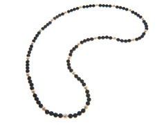 Black Onyx & Freshwater Pearl Endless Necklace