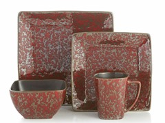 Mojave Red 16-Piece Dinnerware Set