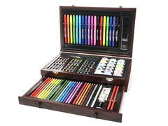 ART 101 Budding Artist 93-Piece Set with Wooden Case