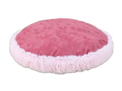 "Shaggy Pink-PS Dusty Rose 24"" Round Pet Bed"