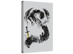 Sword from The Inkwell Gallery Wrapped Canvas 2-Sizes