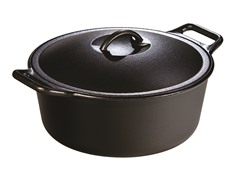 Lodge 7-Quart Dutch Oven w/Loop Handles - Black