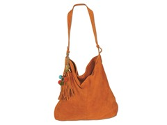 Karma Suede Shoulder Tote, Gold