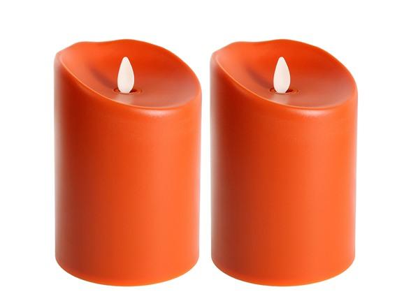 5 Quot Indoor Outdoor Flameless 2 Pk Tuscan Orange