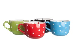 Signature 20oz Polka Dot Mugs - Set of 4
