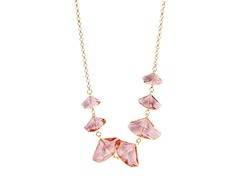Gold/Pink Statement Necklace