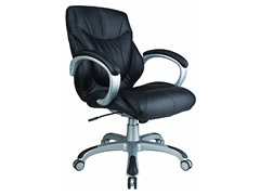 Mid-Back Executive Seating-Black Leather