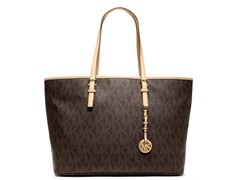 Michael Kors Jet Set Travel Med Tote, PVC Logo