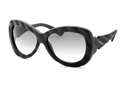 Women's Sunglasses, Matte Black/Gray Gradient