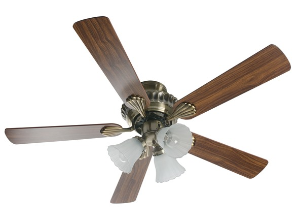 42 Inch English Brass Ceiling Fan With Light Kit