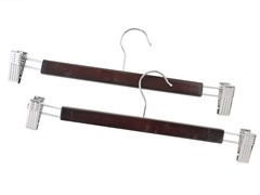 Wood Skirt Hanger Mahogany 2-pc