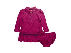Dark Pink Pique Dress (12-24M)