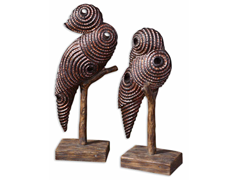 Perching Birds Set of 2