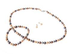 SS Multi Colored Pearl Set