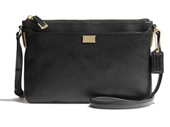 Madison New Leather E/W Swingpack, Black