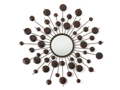 "29"" Round Circle Beam Metal Mirror"