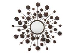 """29"""" Round Circle Beam Metal Mirror"""