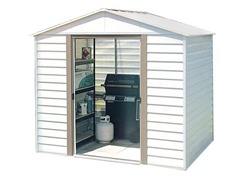 8' x 6' Steel Storage Shed with Skylight