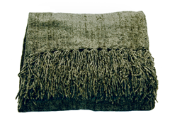 Susan Chenille Throw - Basil