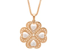18kt Rose Gold Plated Clover Pendant