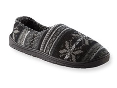 MUK LUKS® Men's John Fairisle Full Foot Slipper, Blk