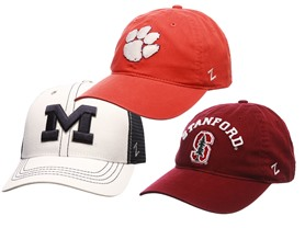 Zephyr NCAA Hats - Multiple Styles