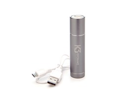 Power Tube 2200 USB Charger - Silver