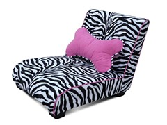 Elliot Chaise Pet Bed - Zebra